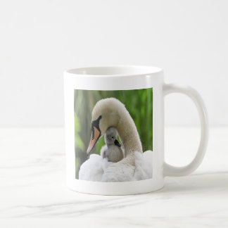 Mother And Baby Swan Coffee Mug