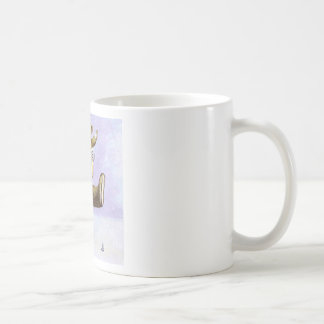 Mother and Baby Teddy Bears Classic White Coffee Mug