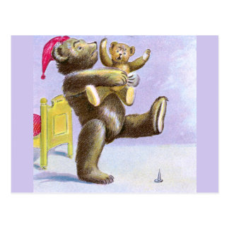 Mother and Baby Teddy Bears Postcard