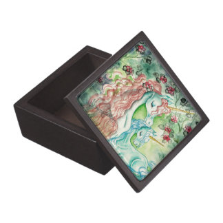 Mother and Baby Unicorn Premium Trinket Box