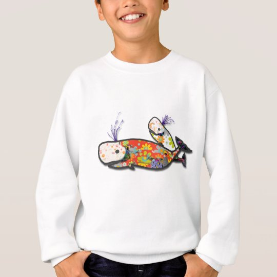 Mother and baby whale sweatshirt