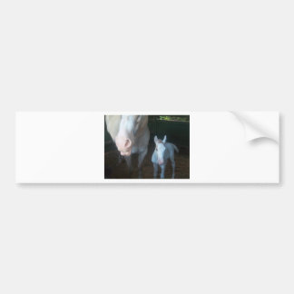Mother and baby - white bumper stickers