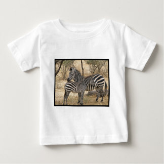 Mother and Baby Zebra  Baby T-Shirt