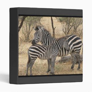 Mother and Baby Zebra  Binder