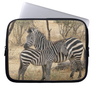 Mother and Baby Zebra  Notebook Sleeve Laptop Computer Sleeve