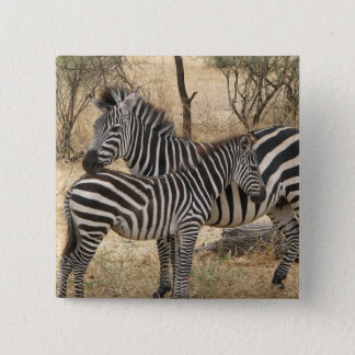 Mother and Baby Zebra  Pin