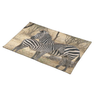 Mother and Baby Zebra Placemat Cloth Placemat