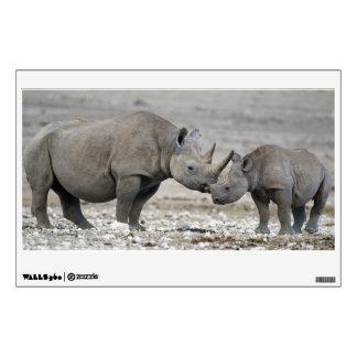 Mother and Calf Black Rhinoceros Diceros Bicornis Wall Decor