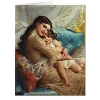 Mother and Child 1885 Large Greeting Card