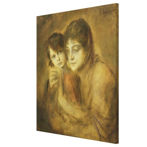 Mother and Child, 1893 Gallery Wrapped Canvas
