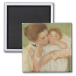 Mother and Child, 1897 2 Inch Square Magnet