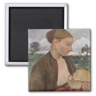 Mother and Child, 1903 2 Inch Square Magnet