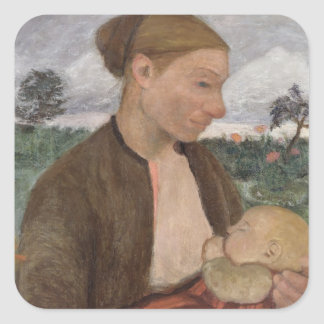 Mother and Child, 1903 Square Sticker