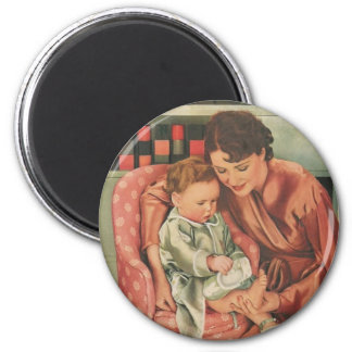 mother and child 2 inch round magnet