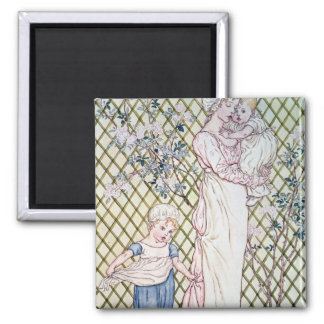 Mother and Child 2 Inch Square Magnet