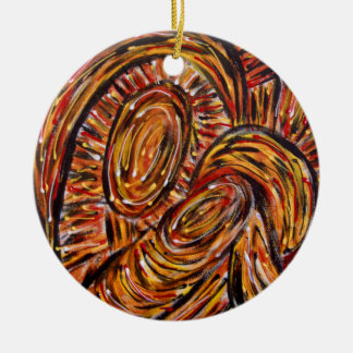 Mother And Child Abstract Christmas Nativity Xmas Ceramic Ornament