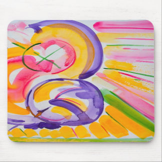 Mother and Child Abstract Mouse Pad