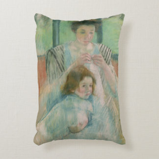Mother and child accent pillow
