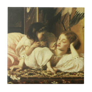 Mother and Child (aka Cherries) by Lord Leighton Ceramic Tile