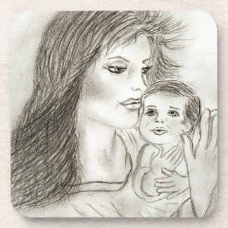 Mother and Child Beverage Coaster