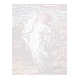 Mother And Child By Daumier Honoré Letterhead