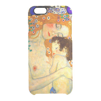 Mother and Child by Gustav Klimt Art Nouveau Clear iPhone 6/6S Case