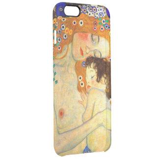 Mother and Child by Gustav Klimt Art Nouveau Clear iPhone 6 Plus Case