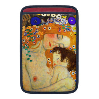 Mother and Child by Gustav Klimt Art Nouveau MacBook Sleeves