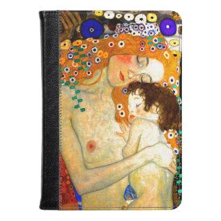 Mother And Child By Gustav Klimt Art Nouveau Kindle Case at Zazzle