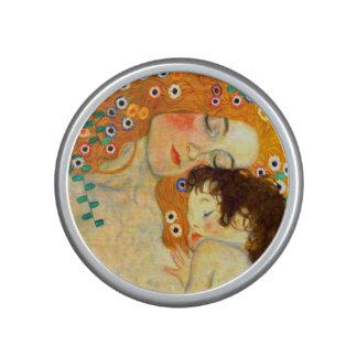 Mother and Child by Gustav Klimt Art Nouveau Bluetooth Speaker