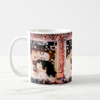 Mother and Child by Gustav Klimt Collage Coffee Mug