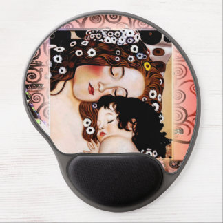 Mother and Child by Gustav Klimt Collage Gel Mouse Pad