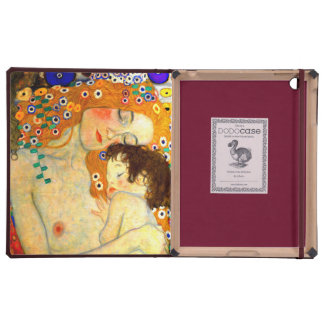 Mother and Child by Gustav Klimt iPad Covers