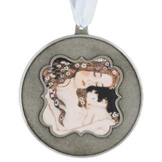 Mother and Child by Gustav Klimt Ornament