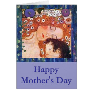 Mother and Child by Klimt Greeting Card