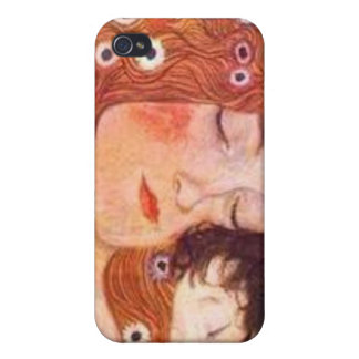 Mother and Child by Klimt iPhone 4/4S Cases