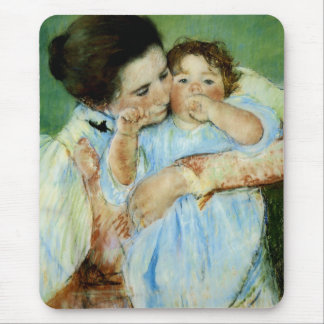 Mother and Child by Mary Cassat Mouse Pad