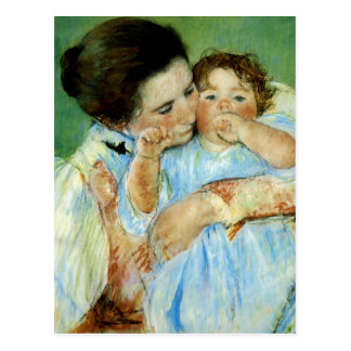 Mother and Child by Mary Cassat Post Card