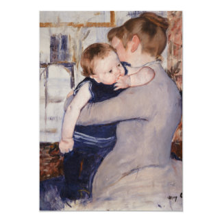 Mother and Child by Mary Cassatt 5x7 Paper Invitation Card