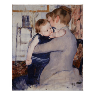 Mother and Child by Mary Cassatt Poster