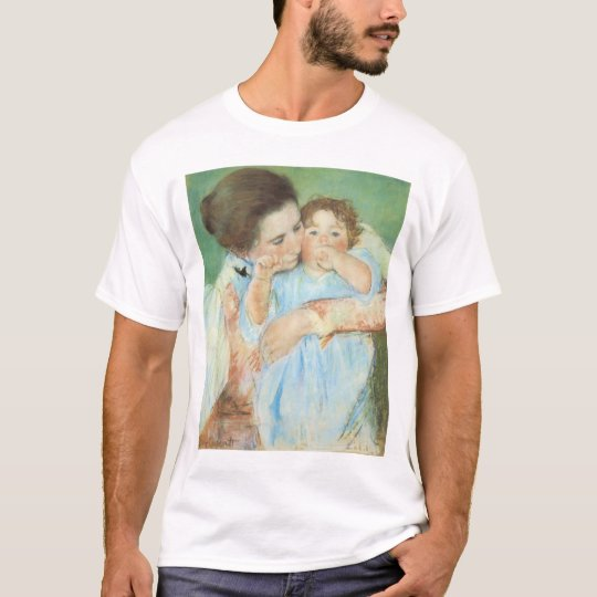 Mother and Child by Mary Cassatt, Vintage Fine Art T-Shirt