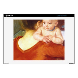 "Mother and Child by Pierre Renoir 14"" Laptop Decal"