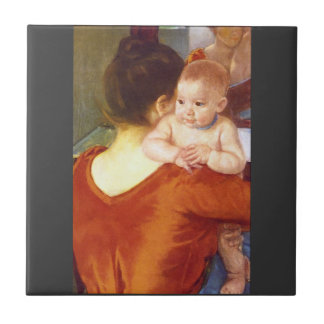 Mother and Child by Pierre Renoir Ceramic Tile