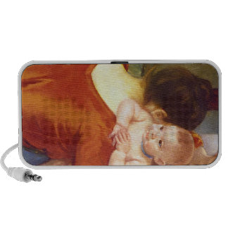 Mother and Child by Pierre Renoir iPod Speaker