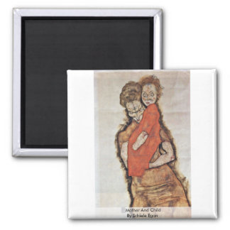 Mother And Child By Schiele Egon Fridge Magnets