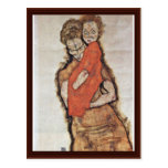 Mother And Child By Schiele Egon Postcards