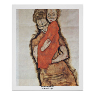 Mother And Child By Schiele Egon Print