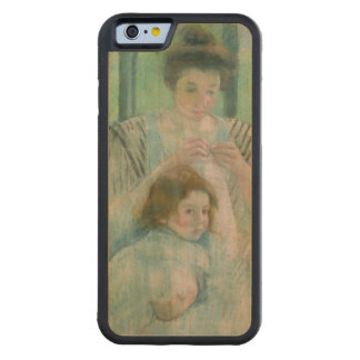 Mother and child carved® maple iPhone 6 bumper case