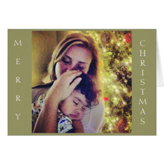 Mother and Child Christmas Card (Contemporary)
