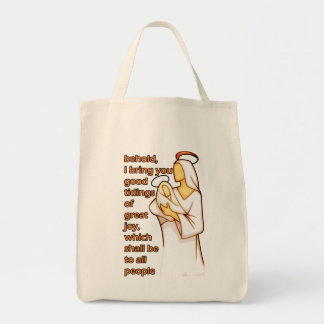 Mother and Child Christmas Design Tote Bag